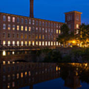 Cocheco Mills At Blue Hour Dover New Hampshire Art Print