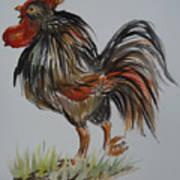 Cock-a-doodle-do Art Print