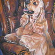 Cocker Spaniel On Chair Art Print