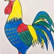 Cockerel 2 Art Print