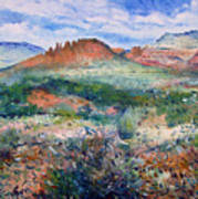 Cockscomb Butte Sedona Arizona Usa 2003  Art Print