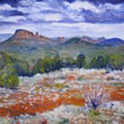 Cockscomb Butte West Sedona Arizona Usa 2002  Art Print
