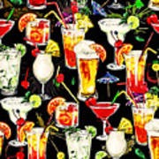Cocktail Hour In The Tropics Art Print