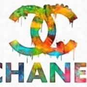 Coco Chanel Paint Splatter Color Art Print