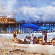 Cocoa Beach Pier Art Print