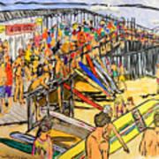 Cocoa Beach Pier/surf Festavil Art Print