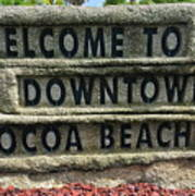 Cocoa Beach Welcome Sign Art Print