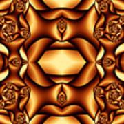 Cocoa Fractal Roses Art Print