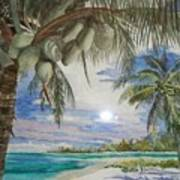 Coconut Beach Art Print
