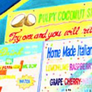 Coconut Shakes Art Print