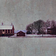 Codori Farm At Gettysburg In The Snow Art Print