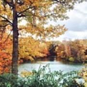 Coe Lake Fall Series 1a Art Print