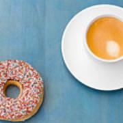 Coffee And Donut Art Print
