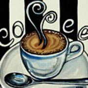 Coffee At The Cafe Art Print