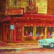 Coffee Bar On The Corner Art Print