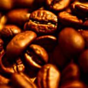 Coffee  Beans- Gold Art Print