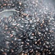 Coffee Beans Roasting Art Print