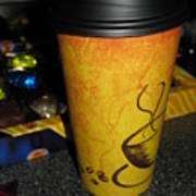 Coffee Cup Series. Yellow And Orange. Art Print