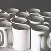 Coffee Cups- By Linda Woods Art Print