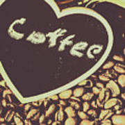 Coffee Heart Art Print