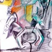 Coffee House Jazz Art Print