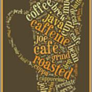 Coffee Lovers Word Cloud Art Print