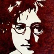 Coffee Painting John Lennon Art Print