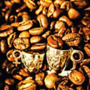 Coffee Shop Companions  Art Print