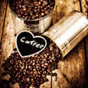 Coffee Shop Love Art Print