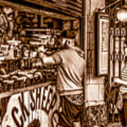 Coffee Time At The Station. Art Print
