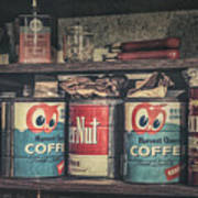 Coffee Tins All In A Row Art Print