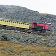 Cog Railway On Top Of Mt Washington Art Print
