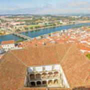 Coimbra Aerial View Art Print