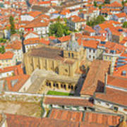 Coimbra Cathedral Aerial Art Print