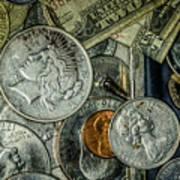 Coins And Bills Art Print