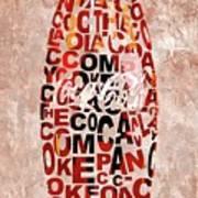 Coke Typography Art Print