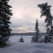 Cold Dawn On Boot Lake Art Print