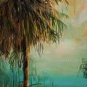 Cold Palm Marsh Art Print