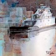 Cold River Art Print