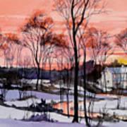 Cold Sunset Art Print