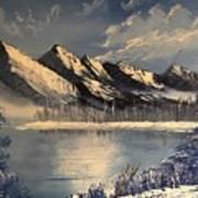 Cold Winter Lake Art Print