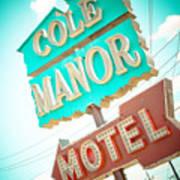 Cole Manor Motel Art Print by David Waldo