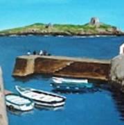 Coliemore Harbour, Dalkey Art Print