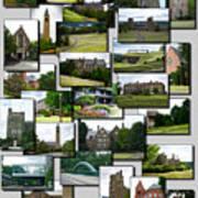 Collage Cornell University Ithaca New York Vertical 02 Art Print