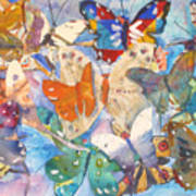 Collage Of Butterflies Art Print