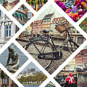 Collage Of Copenhagen  Art Print