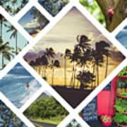 Collage Of Hawaii  Art Print