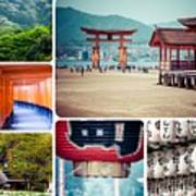 Collage Of Japan Images Art Print