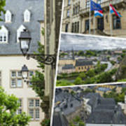 Collage Of Luxembourg Images Art Print