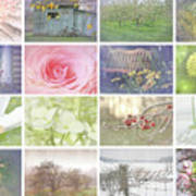 Collage Of Seasonal Images With Vintage Look Art Print
